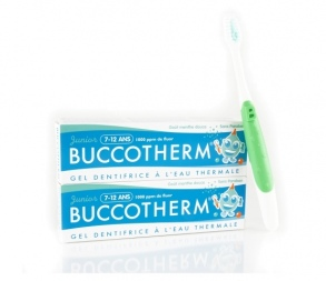 Illustration BUCCOTHERM LOT 2 DENTIFRICE 7/12 ANS MENTHE + BROSSE A DENT