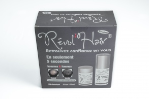 Révol'hair - Révol'hair kit : 22 gr + spray black
