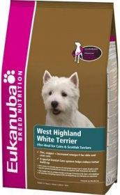 Illustration croquettes eukauba adulte westie 7.5 kg