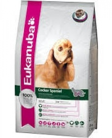 Illustration croquettes eukanuba adulte cocker spaniel 2.5 kg