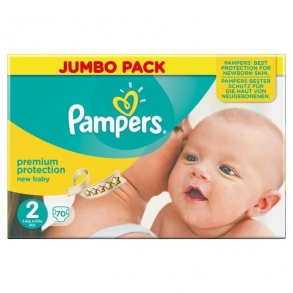 Pampers - Couches New Baby taille 2 (3 à 6 kg) paquet de 68 couches