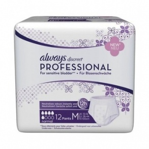 Always - Discreet Professional Normal taille M - paquet de 12 protections