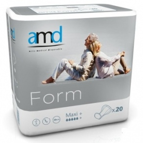Illustration AMD FORM PROT ANATOMIQUE MAXI+ 20 * 4 3400ml