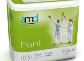Illustration AMD PANT SOUS VETEMENT ABSORBANT SMALL SUPER 14 * 6 absorption 1500ml