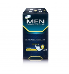 Tena - Men Protections pour homme niveau 2 medium - paquet de 20 protections