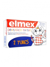 Elmex - Elmex Dentifrice Enfant Lot de 2 x 50 ml