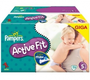 Illustration PAMPERS 5 BABY DRY 4X35 COUCHES