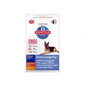 Hill's Pet Nutrition - croquettes hill's science plan canine mature 5+ active longevity grandes races sac 12 kg