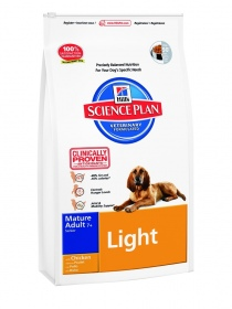 Illustration croquettes hill's science plan canine mature light poulet sac 3 kg
