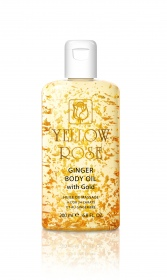 Yellow Rose - huile extraordinaire corps à l'or et au gingembre - 200 ml