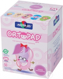Ortopad - ortopad junior for girls compresse oculaire 50 pièces