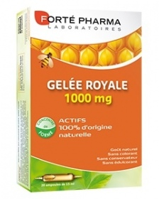 Illustration Gelée Royale 1000 mg - 20 ampoules buvables