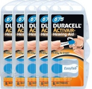 Illustration Pile Auditive DURACELL Activair 675 - 5 plaquettes