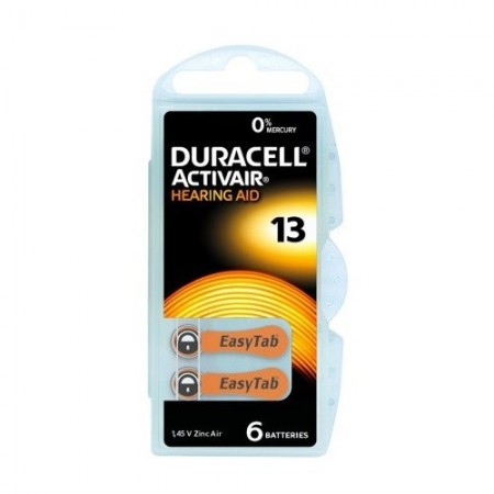 Duracell - Piles Auditives DURACELL Activair 13 - 1 plaquette