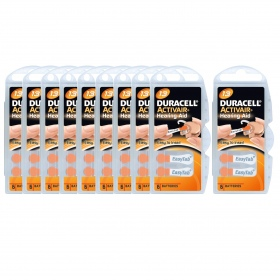 Duracell - Piles Auditives DURACELL Activair 13 - 10 plaquettes