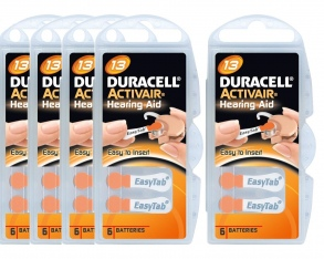 Duracell - Piles Auditives DURACELL Activair 13 - 5 plaquettes