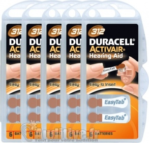 Duracell - Piles Auditives DURACELL Activair 312 - 5 plaquettes