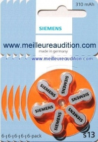 Siemens - Piles Auditives SIEMENS- 5 plaquettes S13