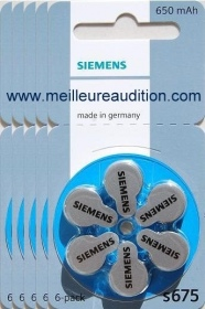 Siemens - Piles Auditives SIEMENS- 5 plaquettes S675