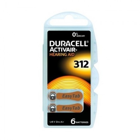 Duracell - Piles Auditives DURACELL Activair 312 - 1 plaquette