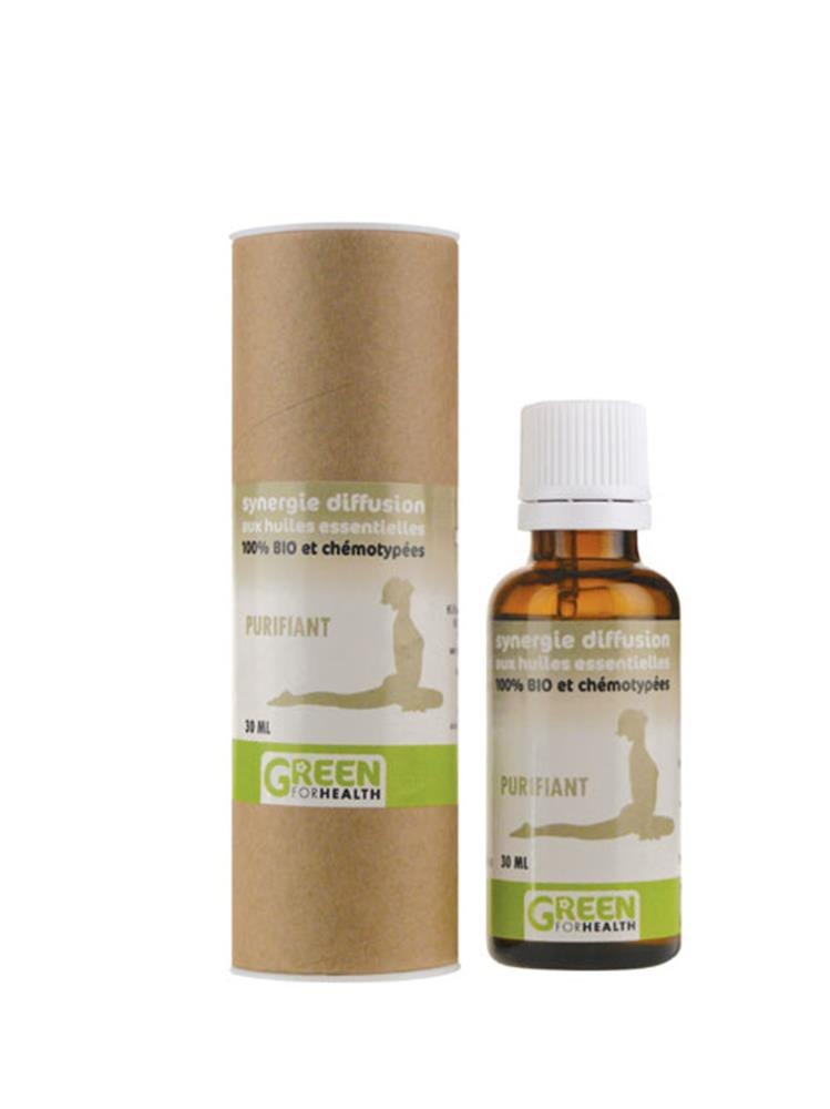 Illustration Huile Essentielle Synergie Diffusion Purifiant Bio 30 ml