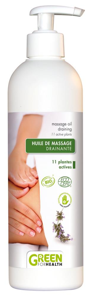 huile de massage drainante bio 500 ml de green for health sur 1001pharmacies dans corps. Black Bedroom Furniture Sets. Home Design Ideas