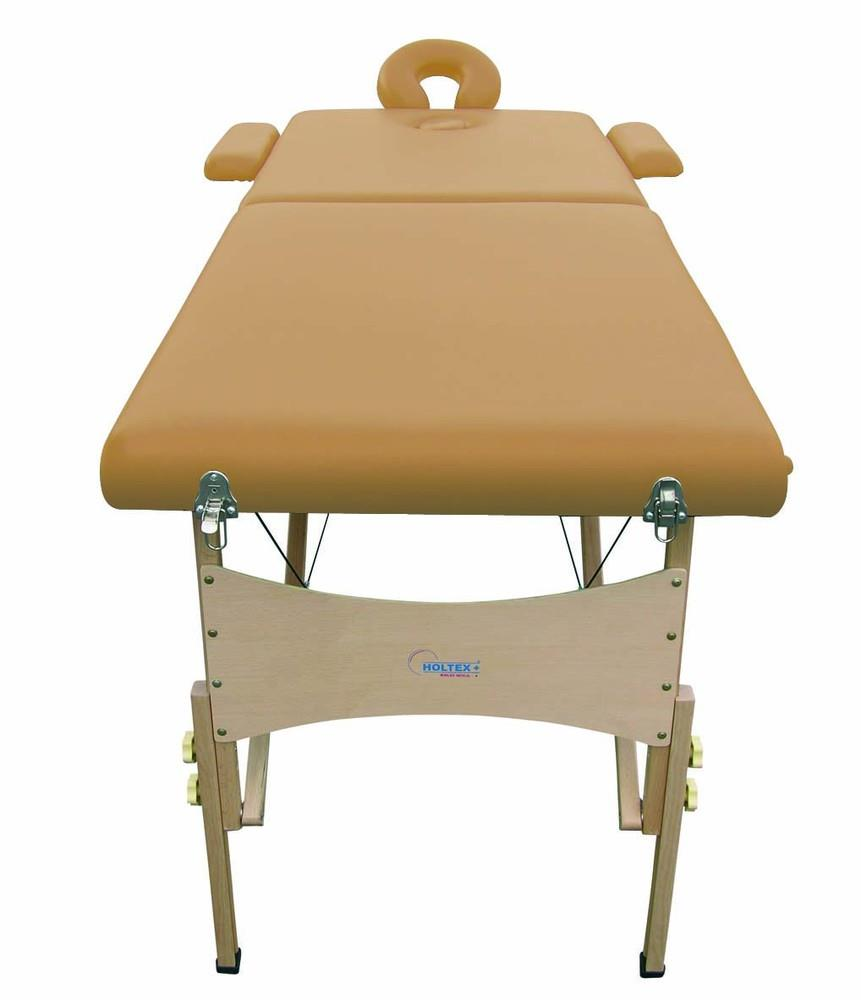 Holtex - Table Massage Pliante Bois Lombok Marron Clair