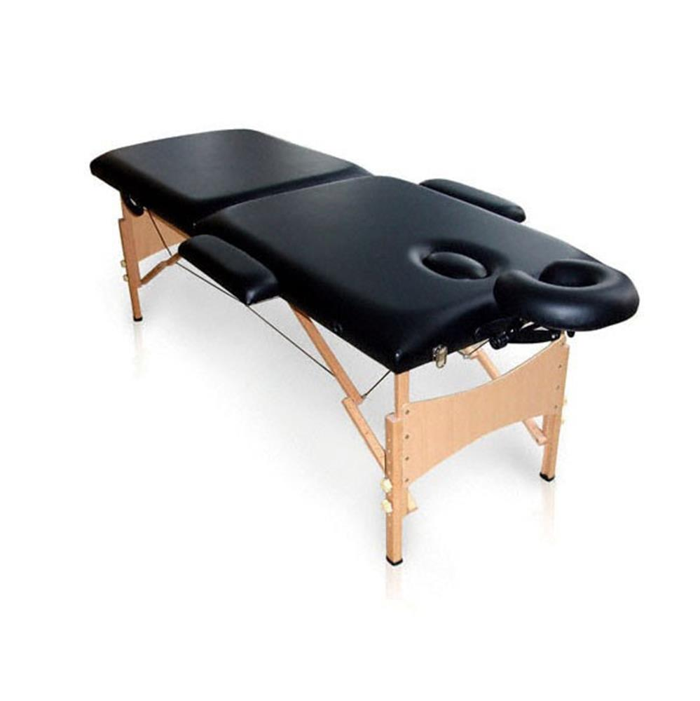 Holtex - Table Massage Pliante Bois Lombok Noir