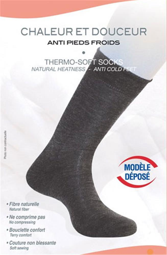 Illustration Chaussettes Thermo Soft Anti Pieds Froids Pour Homme Taille 41/43