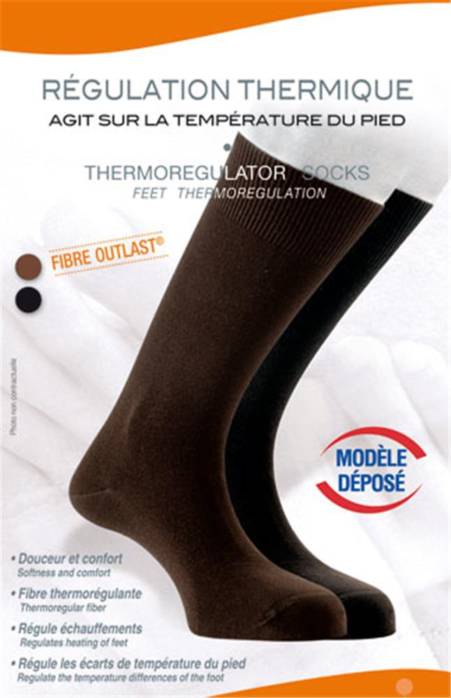 Illustration Chaussettes Thermorégulantes Marron T44/46