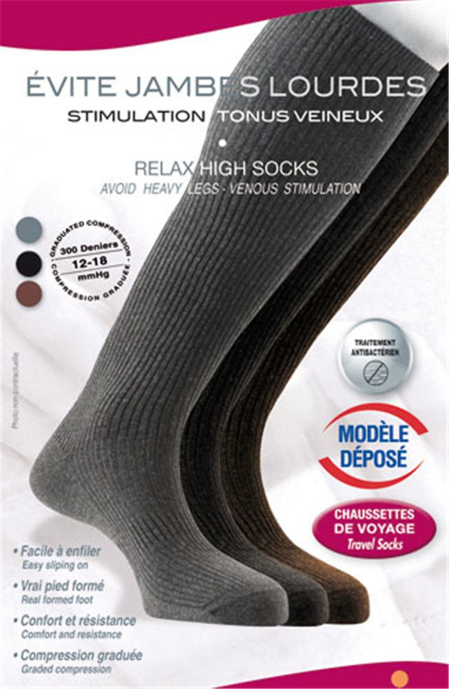 Innov'Activ - Chaussettes Relaxantes Anthracite T44/46