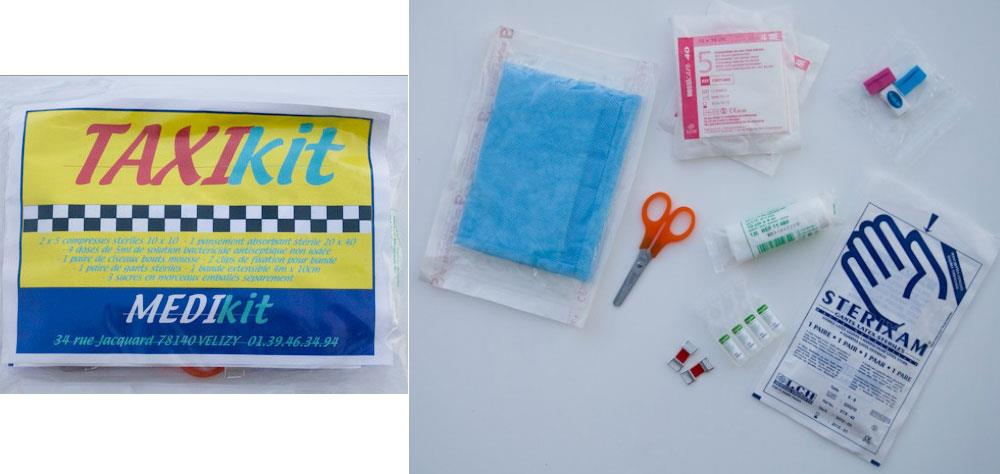 Illustration Trousse de Secours TAXIKIT