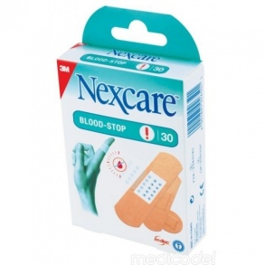 3M - 30 Pansement NEXCARE BLOOD-STOP Assortiment