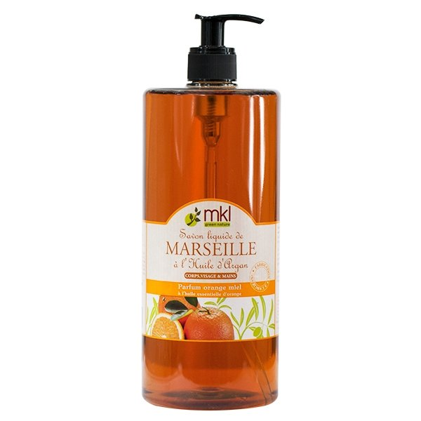 Illustration Savon de Marseille Orange et Miel 1L