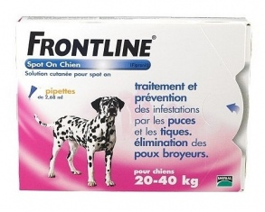 Illustration frontline spot on chien 4 pipettes 20-40 kg