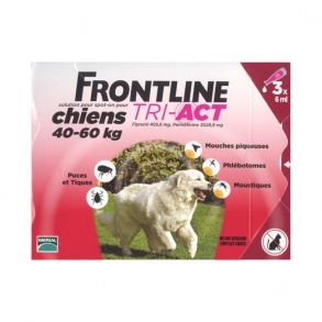 Illustration frontline tri act chiens 40-60kg 3 pipettes