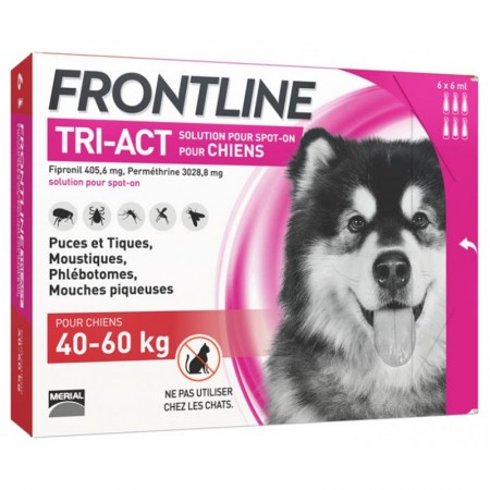 Frontline - frontline tri act chiens 40-60kg 6 pipettes