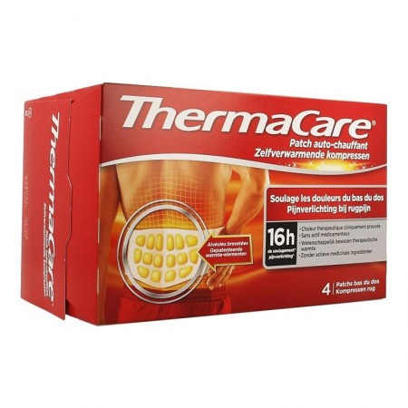 ThermaCare - Thermacare Patch Auto-Chauffant - Bas du Dos 4 Patchs