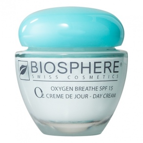 o2 oxygen breathe spf 15 cr me de jour 50ml de biosphere sur 1001pharmacies dans visage. Black Bedroom Furniture Sets. Home Design Ideas