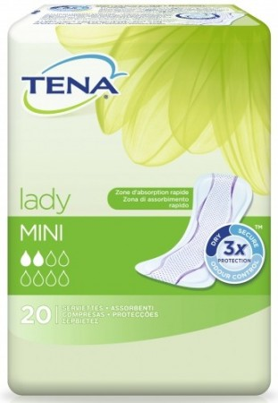 Tena - Protections Lady Mini - paquet de 20 serviettes