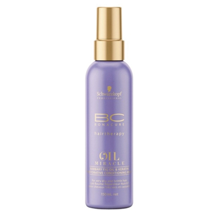 Illustration SPRAY CONDITIONNEUR BARBARY FIG OIL & KERATIN OIL MIRACLE, BC BONACURE DE SCHWARZKOPF 150ML
