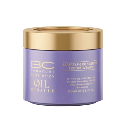 Illustration MASQUE BARBARY FIG OIL & KERATIN OIL MIRACLE, BC BONACURE DE SCHWARZKOPF 150ML