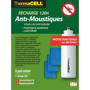ThermaCell - Recharge Anti-Moustiques 120H pour Portable Nomade & Lanterne