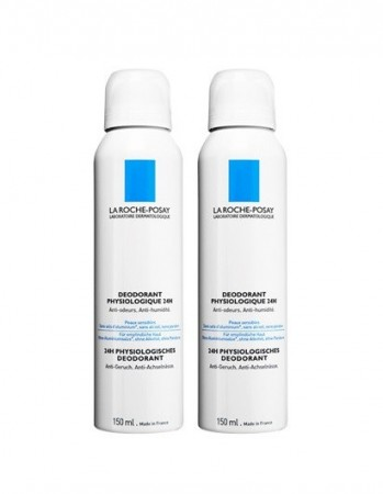 Illustration la roche posay deodorant spray - 150 ml - lot de 2