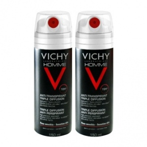 Illustration vichy anti-transpirant triple diffusion - 150 ml - lot de 2