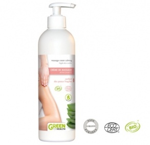 Illustration Creme de massage bio apaisante - 500ml