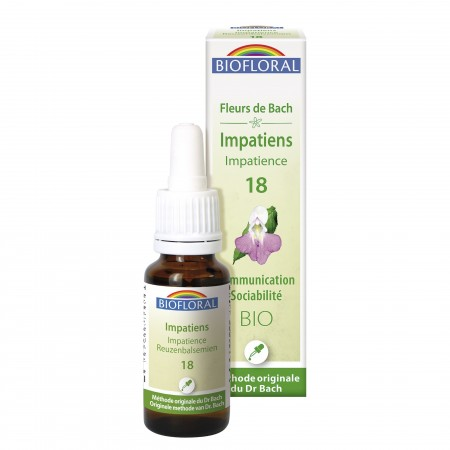 Illustration BIOFLORAL ÉLIXIR 18 IMPATIENTE - 20 mL -
