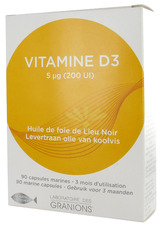 Illustration  Vitamine D3 - 90 Capsules