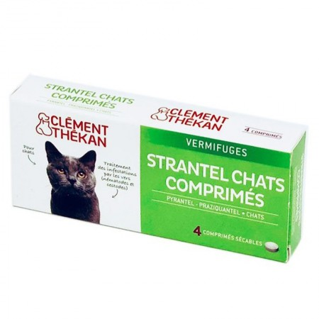 Illustration Strantel chat vermifuge - 4 comprimés