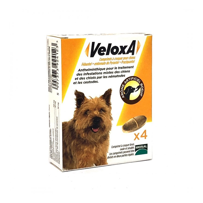 Illustration Veloxa - Vermifuge chien -17,5KG - 4cp